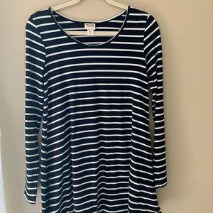 Mossimo Black and White Striped Swing Dress